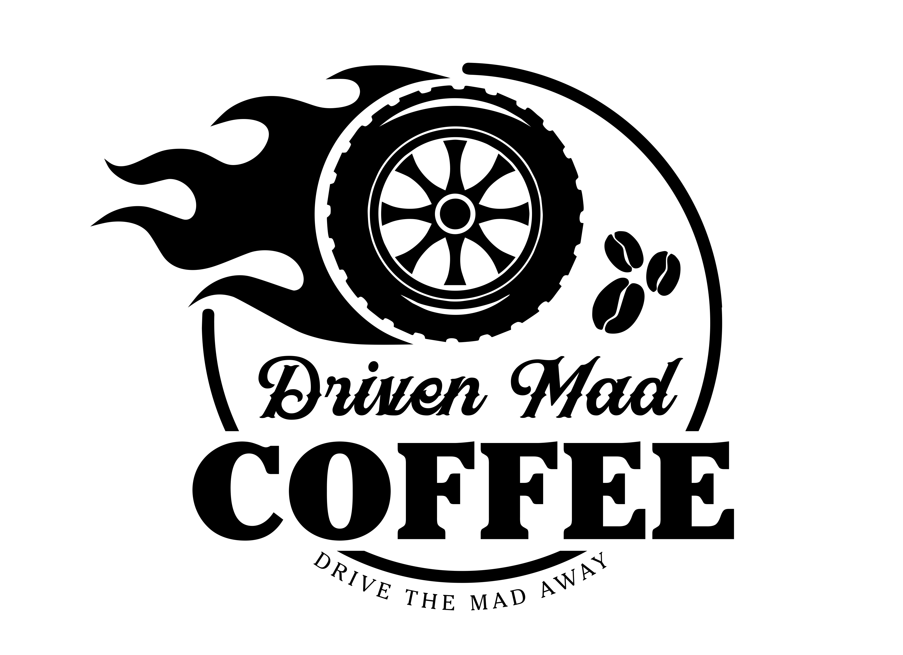 Driven Mad Coffee Logo Design by HIE Signs